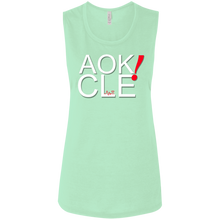 Load image into Gallery viewer, AOK! CLE Ladies' Flowy Muscle Tank