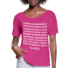 Load image into Gallery viewer, Women's Flowy T-Shirt - dark pink