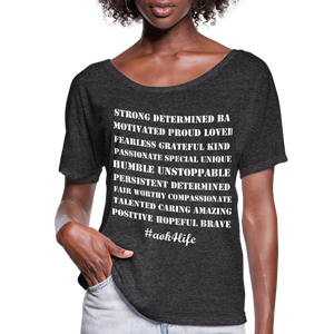 Women's Flowy T-Shirt - charcoal gray