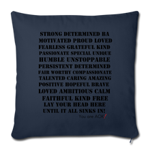 "Load image into Gallery viewer, Throw Pillow Cover 17.5"" x 17.5"" - navy"