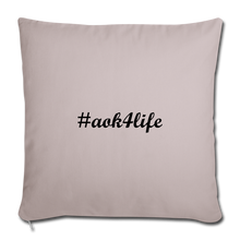 "Load image into Gallery viewer, Throw Pillow Cover 17.5"" x 17.5"" - light taupe"