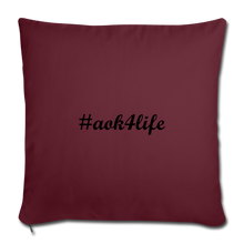 "Load image into Gallery viewer, Throw Pillow Cover 17.5"" x 17.5"" - burgundy"