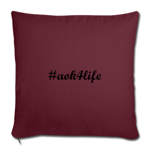 "Throw Pillow Cover 17.5"" x 17.5"" - burgundy"