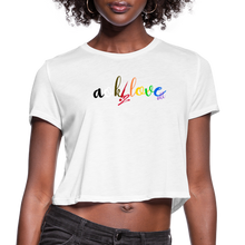 Load image into Gallery viewer, Women's Cropped T-Shirt - white
