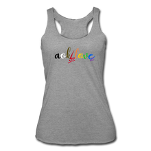 Load image into Gallery viewer, AOK! Love Women's Tri-Blend Racerback Tank - heather gray