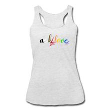 Load image into Gallery viewer, AOK! Love Women's Tri-Blend Racerback Tank - heather white