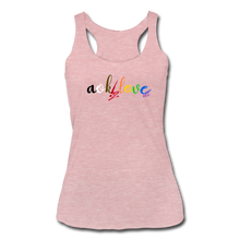Load image into Gallery viewer, AOK! Love Women's Tri-Blend Racerback Tank - heather dusty rose