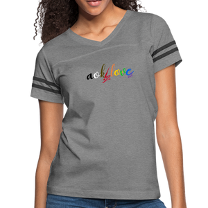 AOK! Love Women's Vintage Sport T-Shirt - heather gray/charcoal