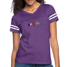 Load image into Gallery viewer, AOK! Love Women's Vintage Sport T-Shirt - vintage purple/white