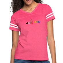 Load image into Gallery viewer, AOK! Love Women's Vintage Sport T-Shirt - vintage pink/white