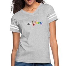 Load image into Gallery viewer, AOK! Love Women's Vintage Sport T-Shirt - heather gray/white