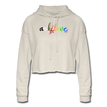 Load image into Gallery viewer, AOK! Love Women's Cropped Hoodie - dust