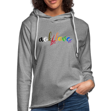Load image into Gallery viewer, AOK! Love Unisex Lightweight Terry Hoodie - heather gray