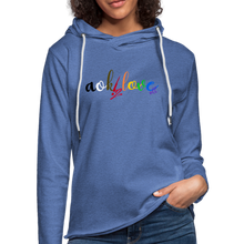 Load image into Gallery viewer, AOK! Love Unisex Lightweight Terry Hoodie - heather Blue