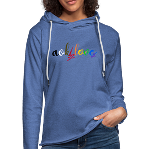 AOK! Love Unisex Lightweight Terry Hoodie - heather Blue
