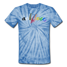 Load image into Gallery viewer, AOK! Love Unisex Tie Dye T-Shirt - spider baby blue
