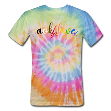 Load image into Gallery viewer, AOK! Love Unisex Tie Dye T-Shirt - rainbow