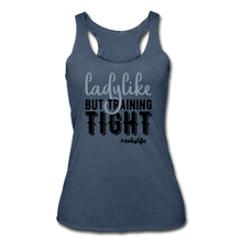 Load image into Gallery viewer, Like &Tight Women's Tri-Blend Racerback Tank - heather navy
