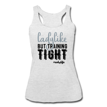 Load image into Gallery viewer, Like &Tight Women's Tri-Blend Racerback Tank - heather white