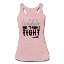 Load image into Gallery viewer, Like &Tight Women's Tri-Blend Racerback Tank - heather dusty rose