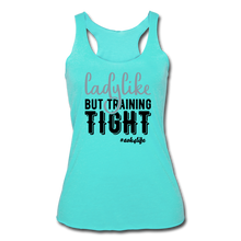 Load image into Gallery viewer, Like &Tight Women's Tri-Blend Racerback Tank - turquoise