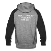Load image into Gallery viewer, Unisex Be Your BEST Hoodie - heather gray/black