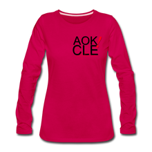 "Load image into Gallery viewer, "" Never Miss a Workout"" Women's Premium Long Sleeve T-Shirt - dark pink"