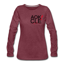 "Load image into Gallery viewer, "" Never Miss a Workout"" Women's Premium Long Sleeve T-Shirt - heather burgundy"