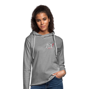 PUSH Unisex Lightweight Terry Hoodie - heather gray