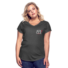 Load image into Gallery viewer, Exercise is FUN! Women's Tri-Blend V-Neck T-Shirt - deep heather