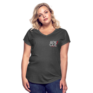Exercise is FUN! Women's Tri-Blend V-Neck T-Shirt - deep heather