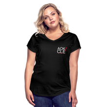 Load image into Gallery viewer, Exercise is FUN! Women's Tri-Blend V-Neck T-Shirt - black