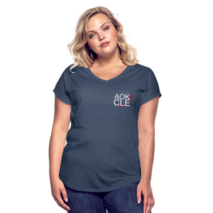 Exercise is FUN! Women's Tri-Blend V-Neck T-Shirt - navy heather