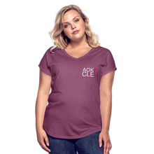 Load image into Gallery viewer, Exercise is FUN! Women's Tri-Blend V-Neck T-Shirt - heather plum