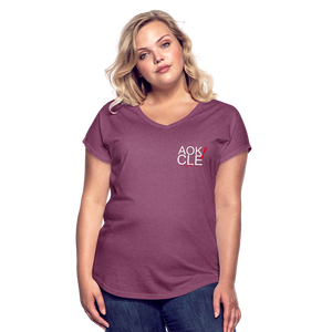 Exercise is FUN! Women's Tri-Blend V-Neck T-Shirt - heather plum