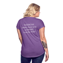 Load image into Gallery viewer, Exercise is FUN! Women's Tri-Blend V-Neck T-Shirt - purple heather