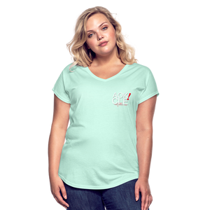 Exercise is FUN! Women's Tri-Blend V-Neck T-Shirt - mint