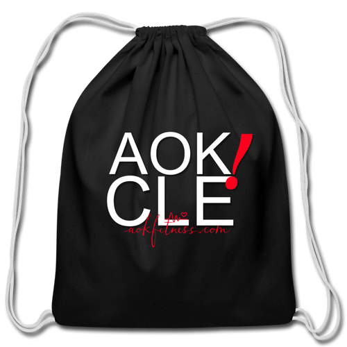 AOK! CLE Drawstring Bag - black