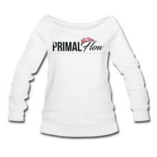 Load image into Gallery viewer, Primal Wideneck Sweatshirt - white