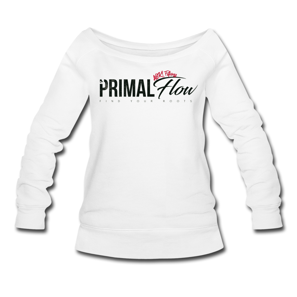 Primal Wideneck Sweatshirt - white