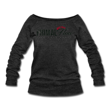 Load image into Gallery viewer, Primal Wideneck Sweatshirt - heather black