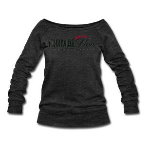 Primal Wideneck Sweatshirt - heather black