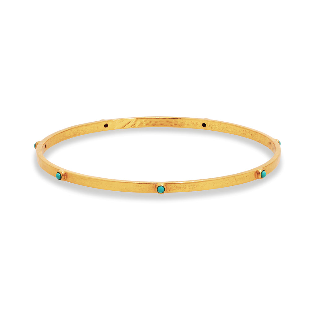 Julie Vos Crescent Bangle - Turquoise