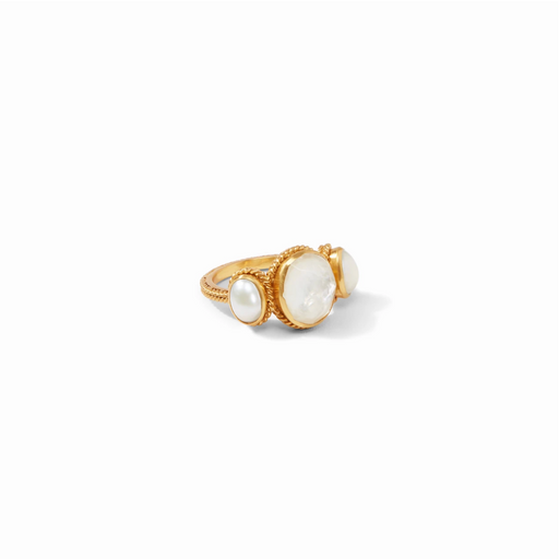 Julie Vos Calypso Ring - Clear/Pearl
