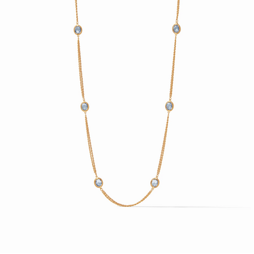 Julie Vos Calypso Station Necklace - Blue