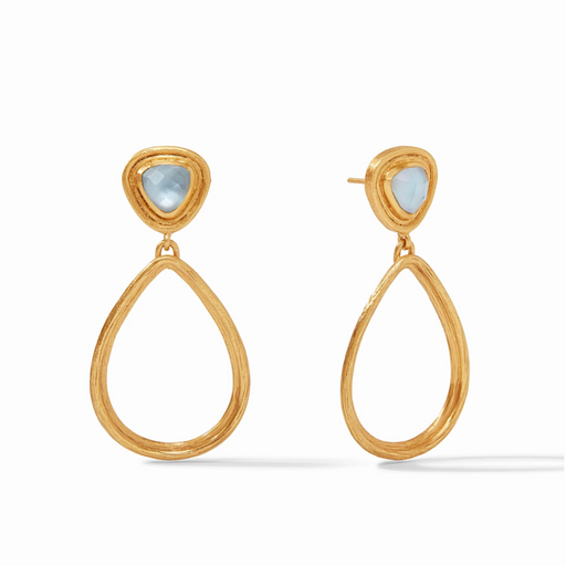 Julie Vos Barcelona Statement Earring - Chalcedony Blue