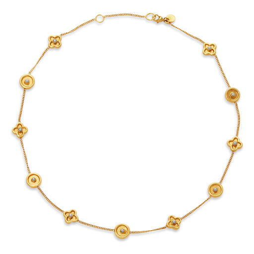 Julie Vos Daphne Necklace Gold Pearl
