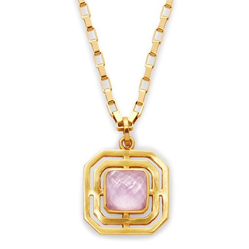 Julie Vos Geneva Pendant Gold Iridescent Rose