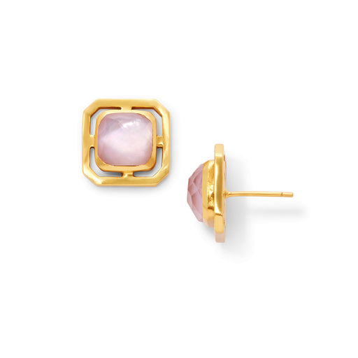 Julie Vos Geneva Stud Gold - Iridescent Rose