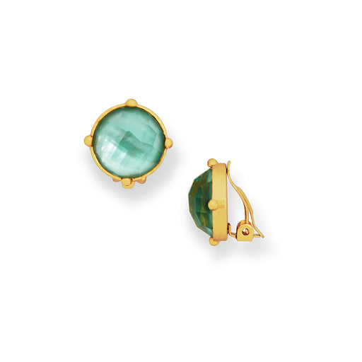Julie Vos Honey Clip-Ons Iridescent Aquamarine
